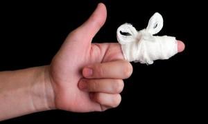 Как перевязать палец
