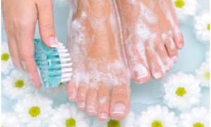 Ванночки для загрубевшей кожи ног с лекарственными травами