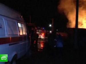 Из-за пожара в интернате эвакуированы почти 100 человек