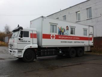 Мобильный медкомплекс отправился в поездку по Мурманской области