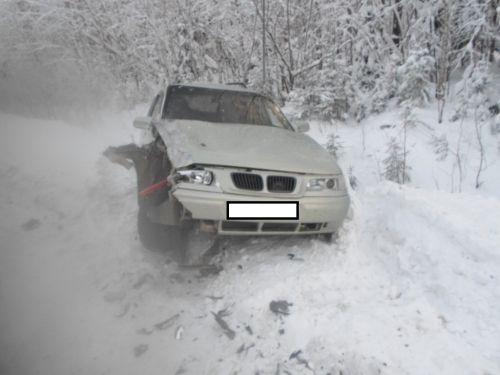 В Смоленской области после переворота иномарки пострадал пассажир