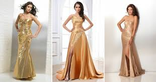 Платья цвета драгоценного металла