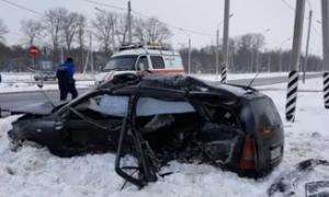В Интернет выложили видео страшной аварии с тремя пострадвшими под Смоленском