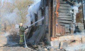 В Смоленском районе сгорел мужчина