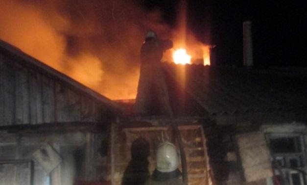 В Смоленской области при пожаре в доме пострадал мужчина
