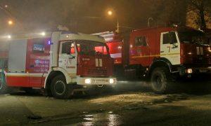 При пожаре на улице Попова в Смоленске пострадал человек