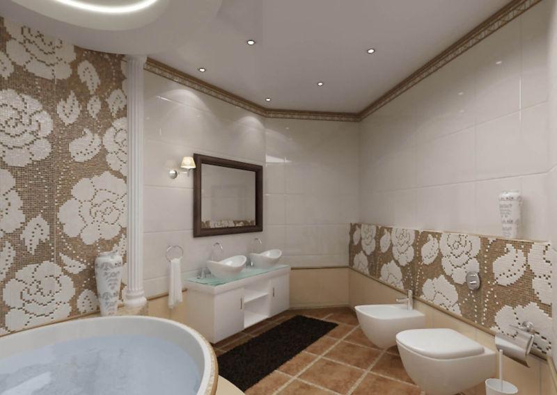 Натяжные потолки для ванной комнаты
