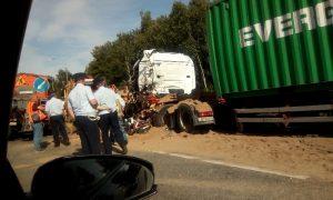 В Смоленской области на трассе М1 произошло смертельное ДТП с участием двух фур