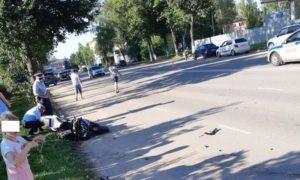 В Смоленской области ищут свидетелей ДТП, в котором пострадал мотоциклист