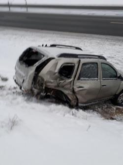 «Водителя госпитализировали». На трассе М1 в Смоленской области произошло ДТП
