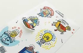 Разумная цена на печать наклеек от компании radiuss.com.ua