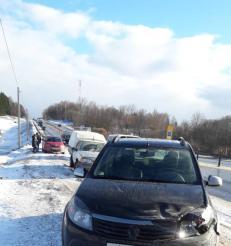 «Засмотрелась на аварию?». В Смоленской области на трассе М1 женщина сбила пешехода