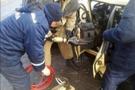 «Машина в кювете». Смолянин пострадал в жестком ДТП