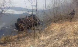 «Уходил от погони ДПС». В Смоленске последствия аварии с утопленником попали на видео