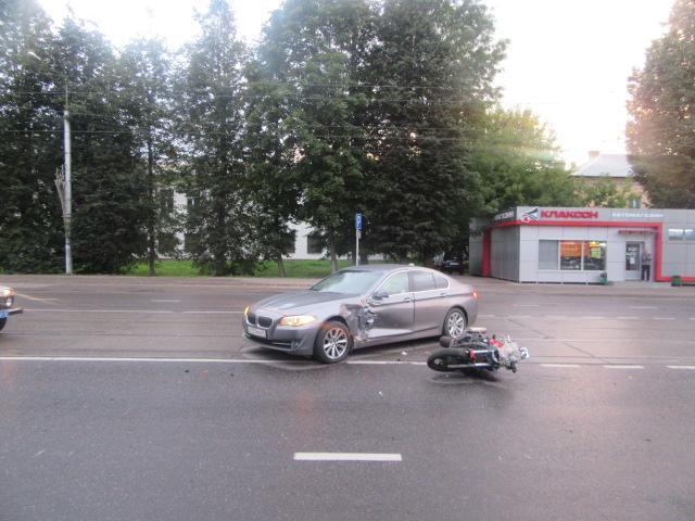 Стали известны подробности жесткого ДТП с мотоциклом в Смоленске