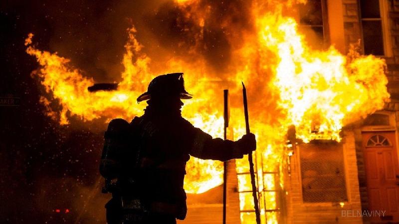 Во время пожара в Смоленской области погиб мужчина