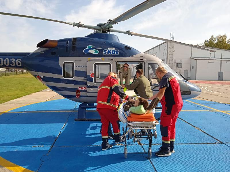 Смолянина для экстренной медпомощи на вертолете доставили в Москву