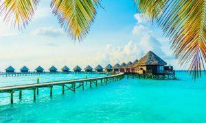 Мальдивские острова на исторической карте мира