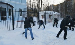 В Смоленске чиновники очистили от снега территории медучреждений
